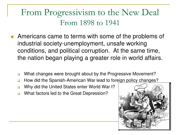 From Progressivism to the New Deal