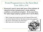 from progressivism to the new deal from 1898 to 1941