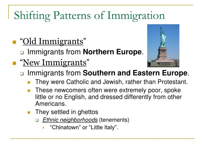 Shifting Patterns of Immigration