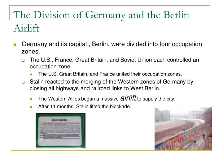 The Division of Germany and the Berlin Airlift