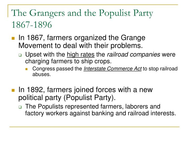 The Grangers and the Populist Party