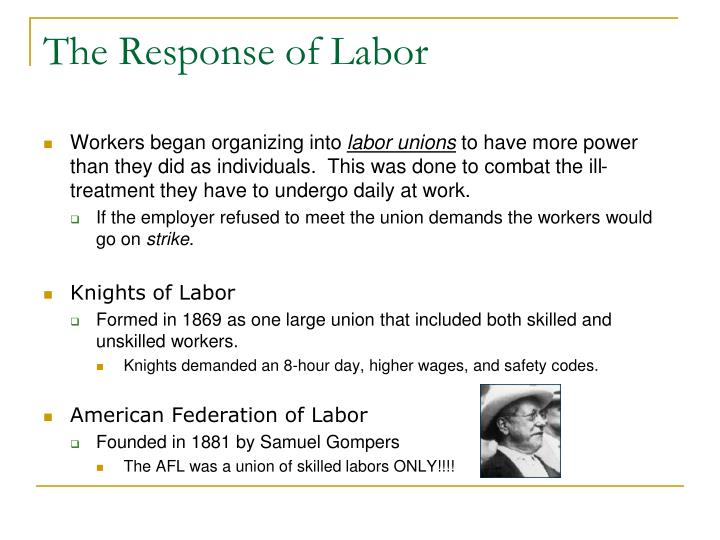The Response of Labor