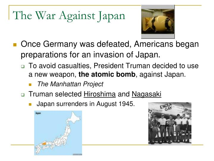 The War Against Japan