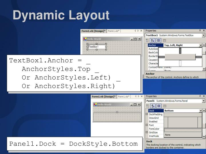 Dynamic Layout