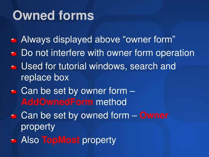 Owned forms