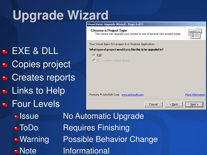 Upgrade Wizard