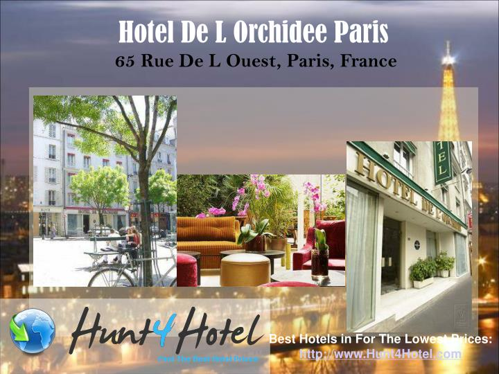 Hotel De L Orchidee Paris