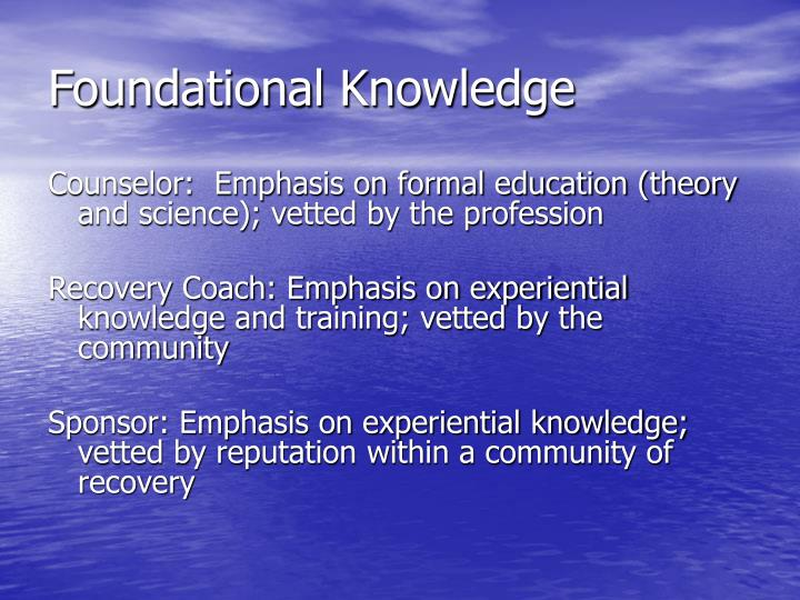 Foundational Knowledge
