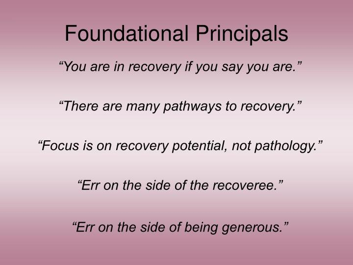 Foundational Principals