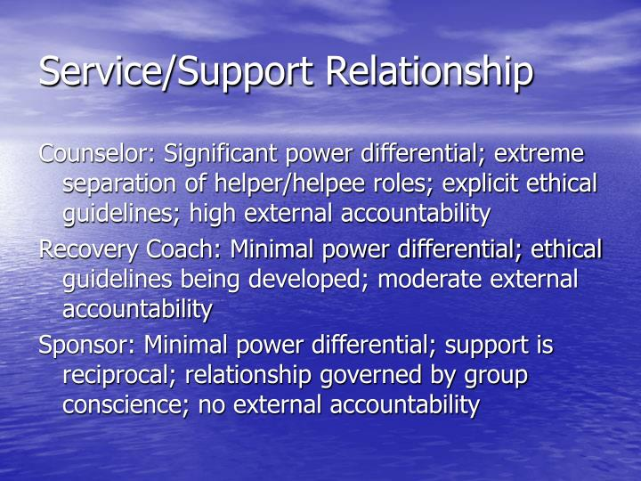Service/Support Relationship