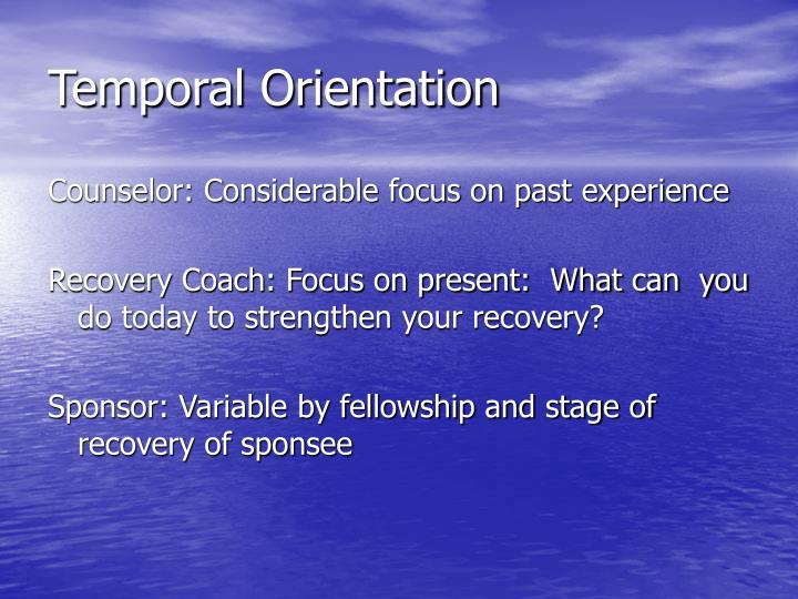 Temporal Orientation