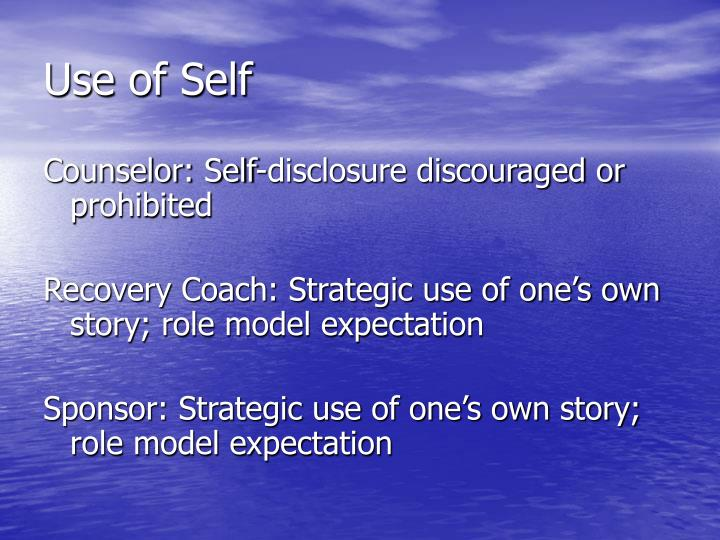 Use of Self
