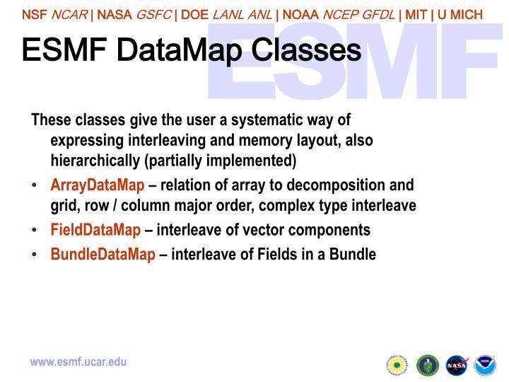 ESMF DataMap Classes