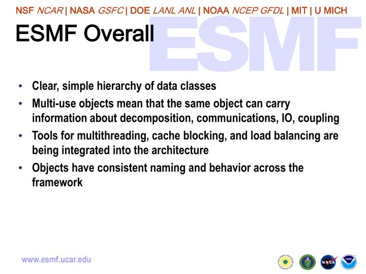 ESMF Overall