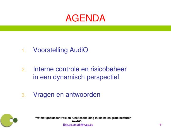 Voorstelling AudiO