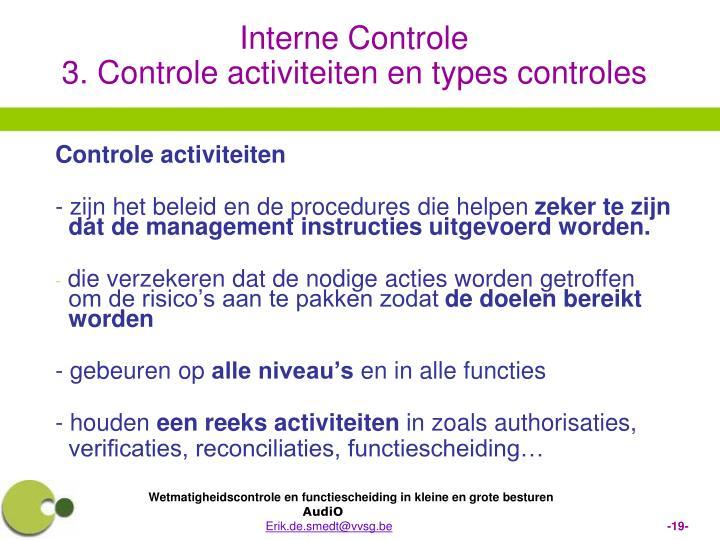 Controle activiteiten