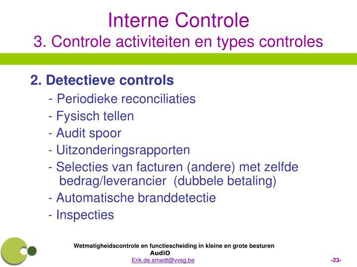 2. Detectieve controls