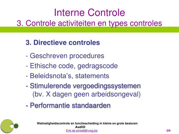 3. Directieve controles