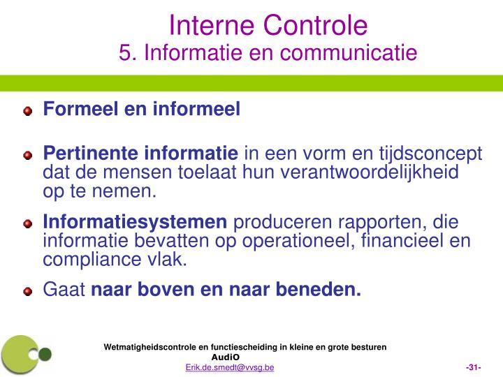 Formeel en informeel