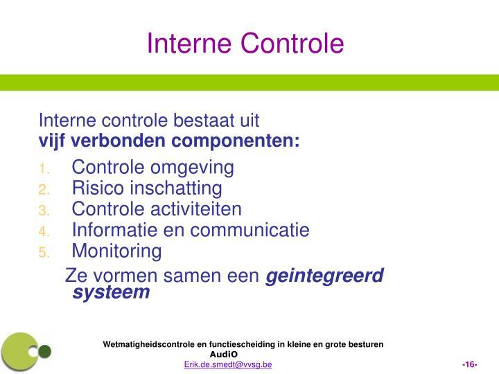 Interne controle bestaat uit