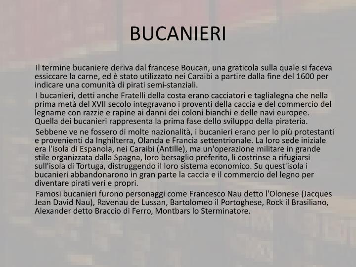 BUCANIERI