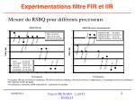 exp rimentations filtre fir et iir