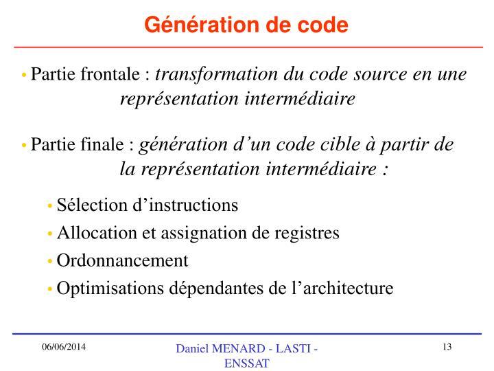 Génération de code