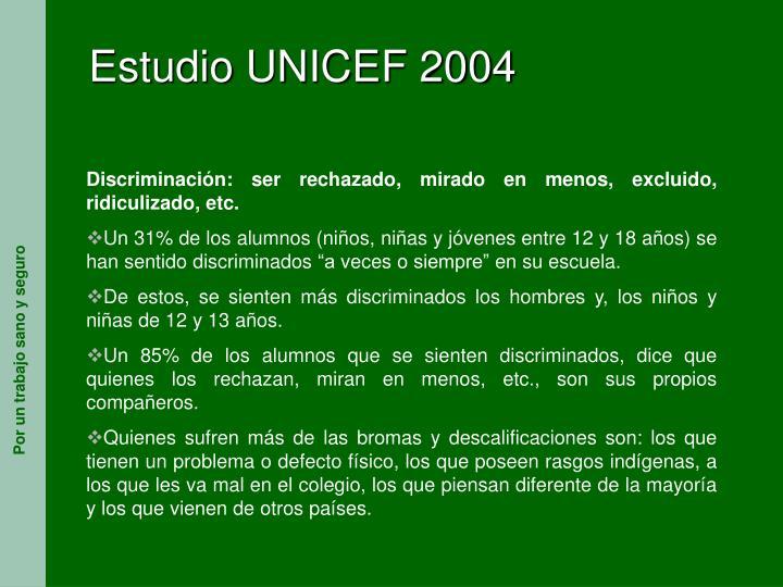 Estudio UNICEF 2004