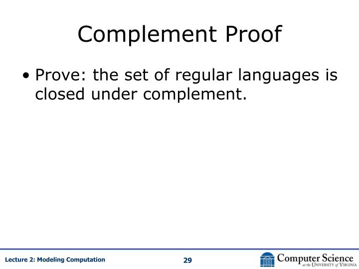 Complement Proof