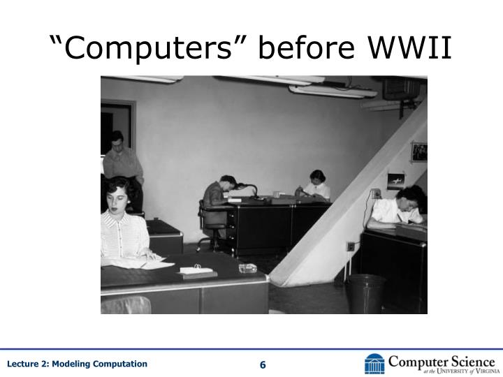 """Computers"" before WWII"