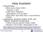help available