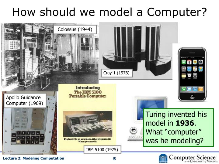 How should we model a Computer?