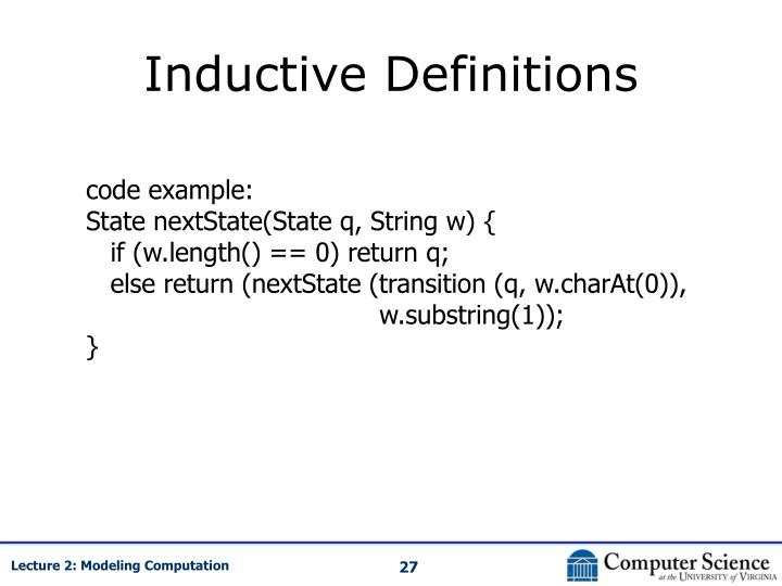 Inductive Definitions