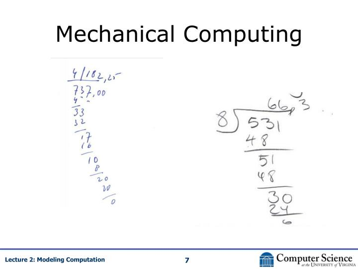 Mechanical Computing