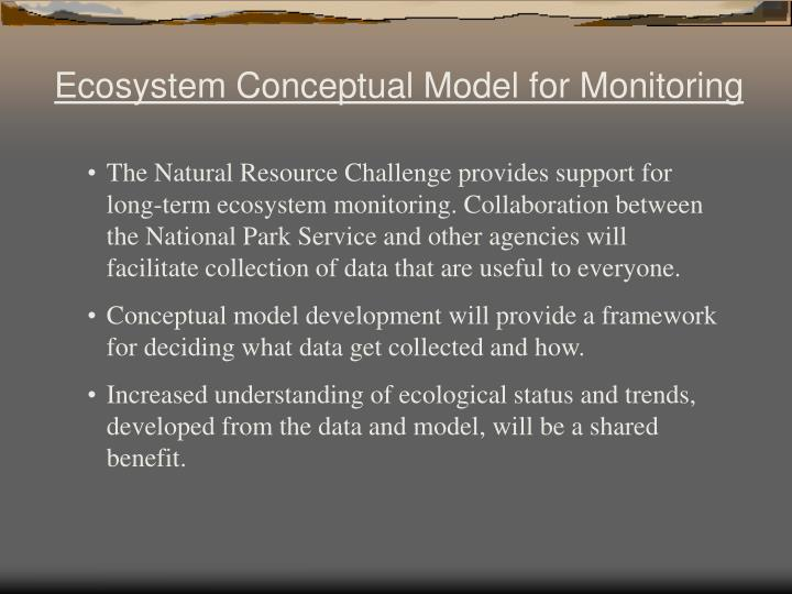 Ecosystem Conceptual Model for Monitoring