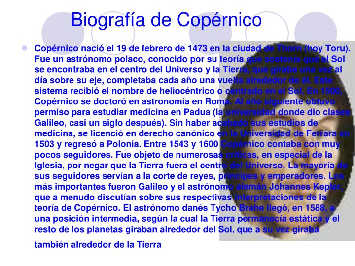 Biografía de Copérnico