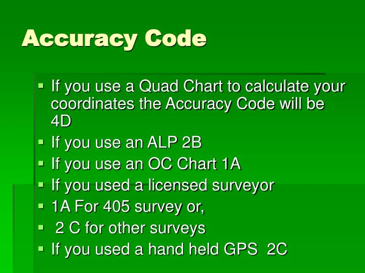 Accuracy Code