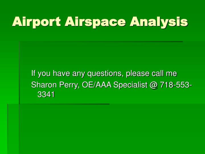 Airport Airspace Analysis