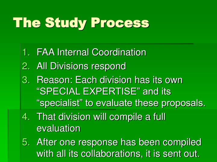 The Study Process