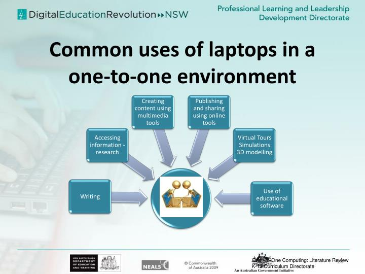 Common uses of laptops in a