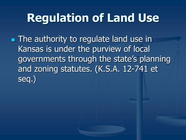 Regulation of Land Use