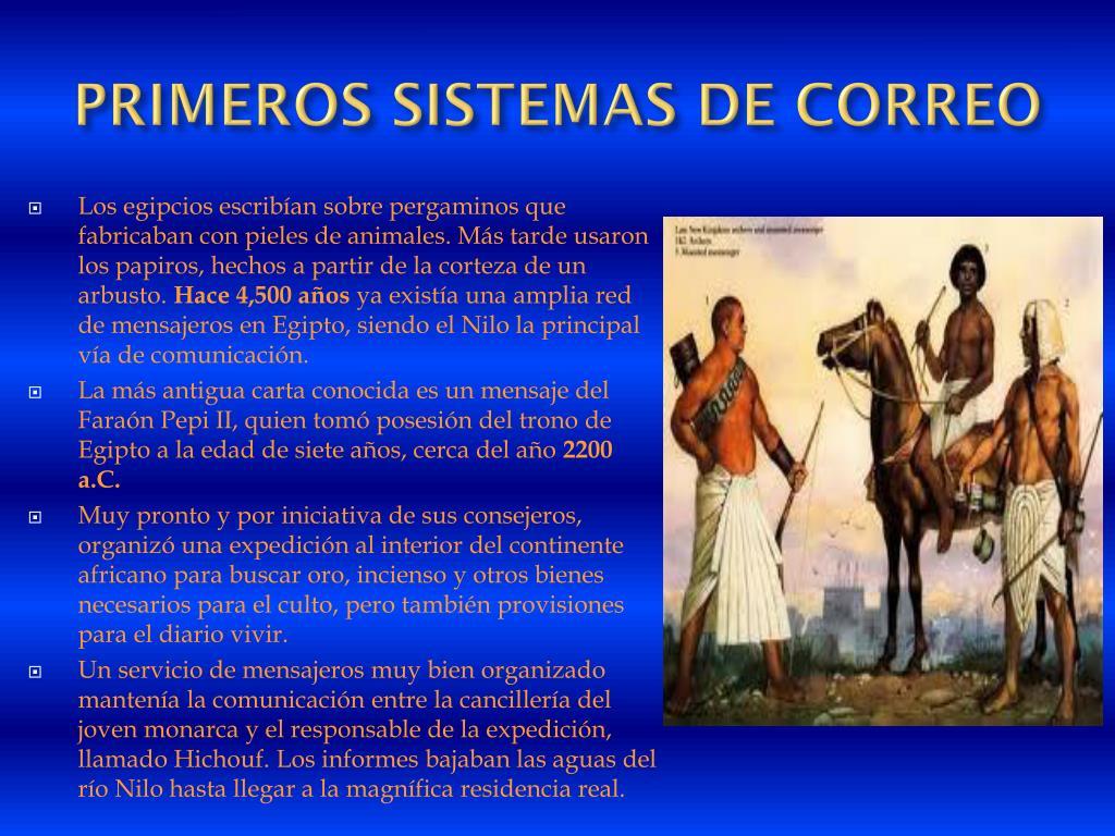 PRIMEROS SISTEMAS DE CORREO