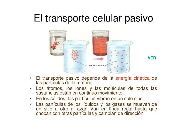 El transporte celular pasivo