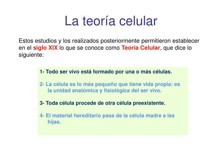 La teoría celular