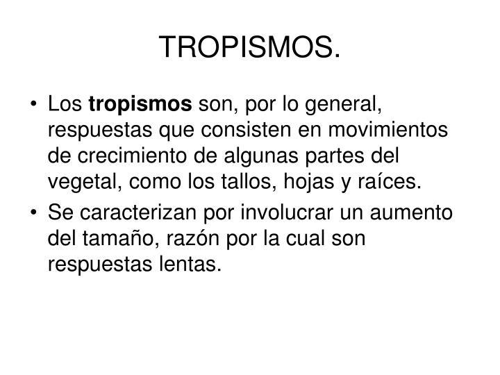 TROPISMOS.
