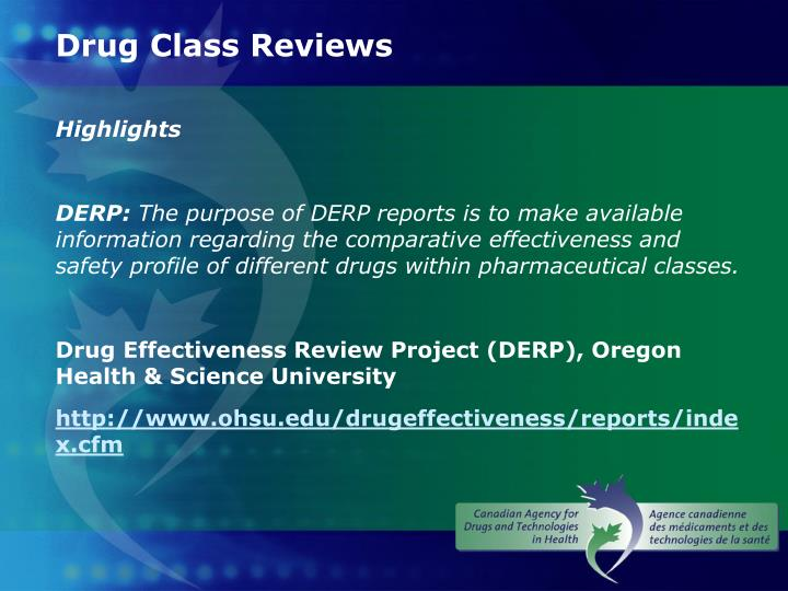 Drug Class Reviews
