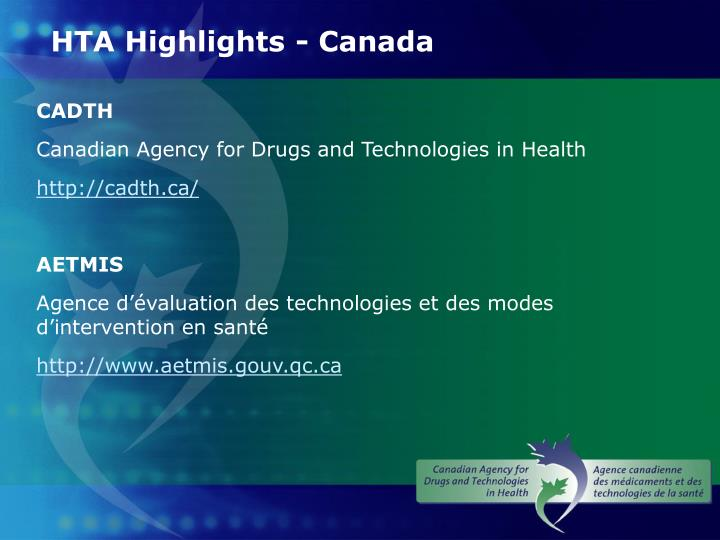 HTA Highlights - Canada