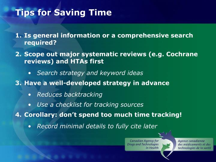 Tips for Saving Time