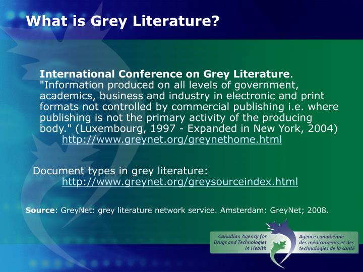 What is grey literature1