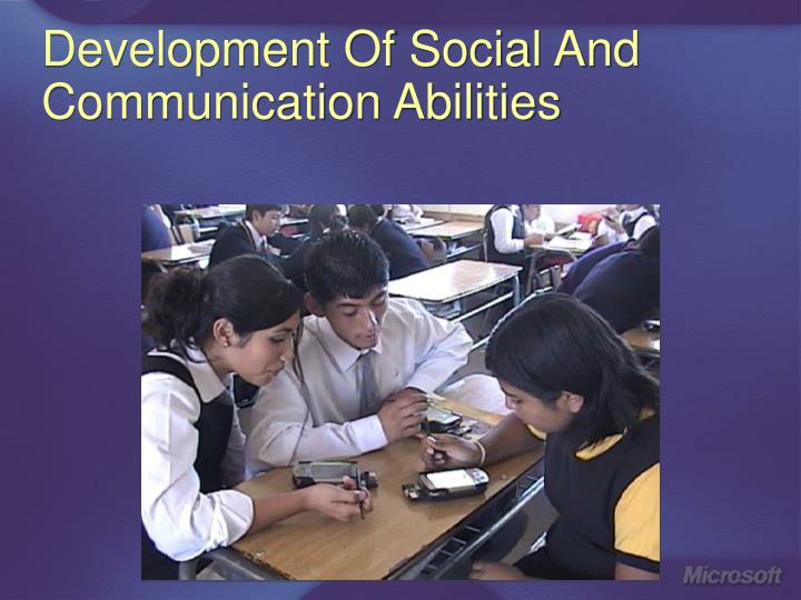 Development Of Social And Communication Abilities
